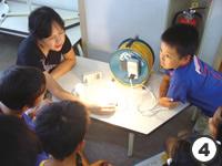 白熱電球と省エネ電球の比較写真