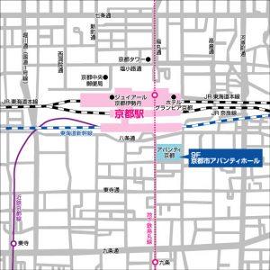 地図(会場:京都市アバンティホール)
