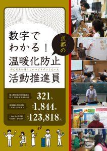 冊子名「数字でわかる!京都の温暖化防止活動推進員」2015年度版表紙